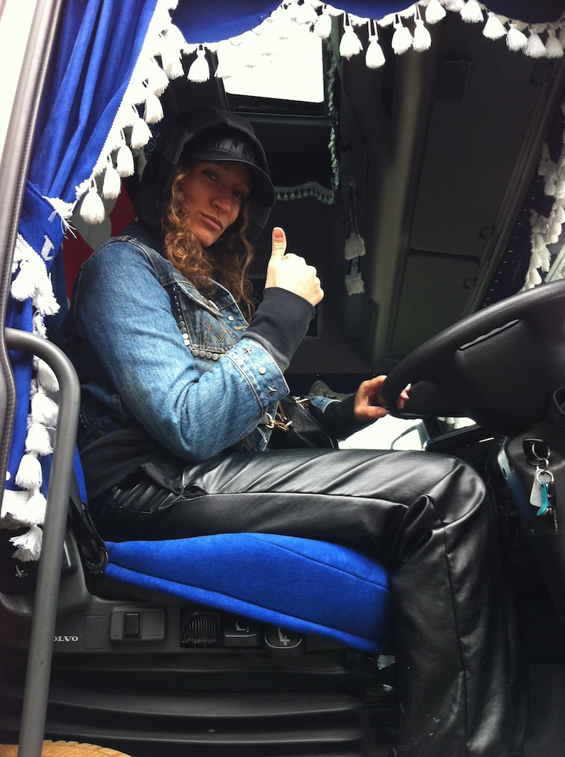 I Was Sitting Inside The Cabin Of A Truck For First And NOT LAST Time In My Life It Belongs To Rocket Ray Trucker From Bethnal Green